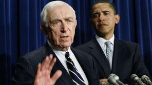 Sen. Frank Lautenberg and the-Sen. Barack Obama hold