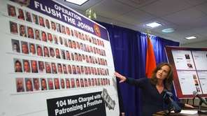 Nassau Count District Attorney Kathleen Rice announces the