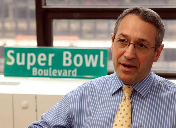 The NFL's vice president of events, Frank Supovitz,