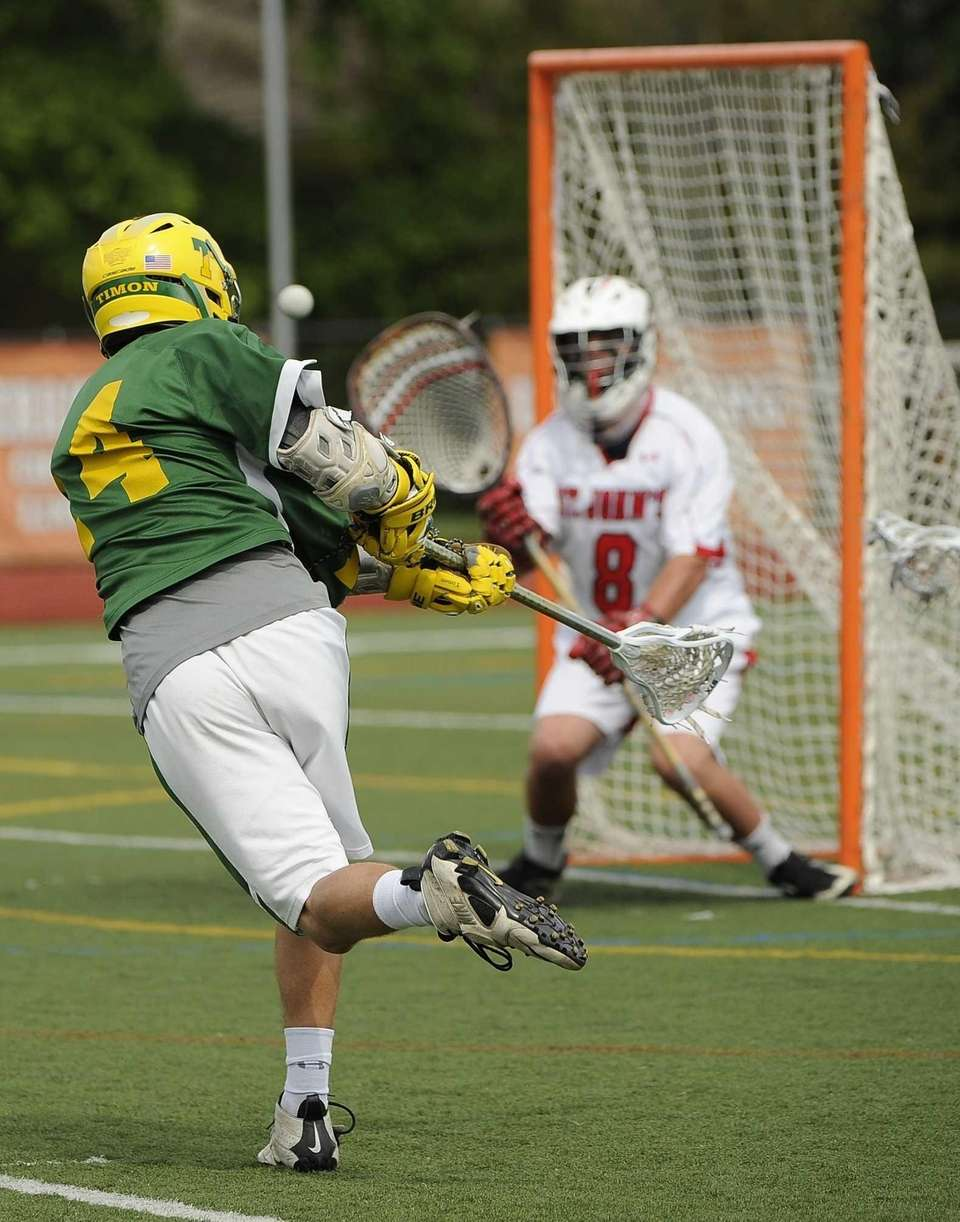 Bishop Timon-St. Jude's Connor Fields shoots and scores