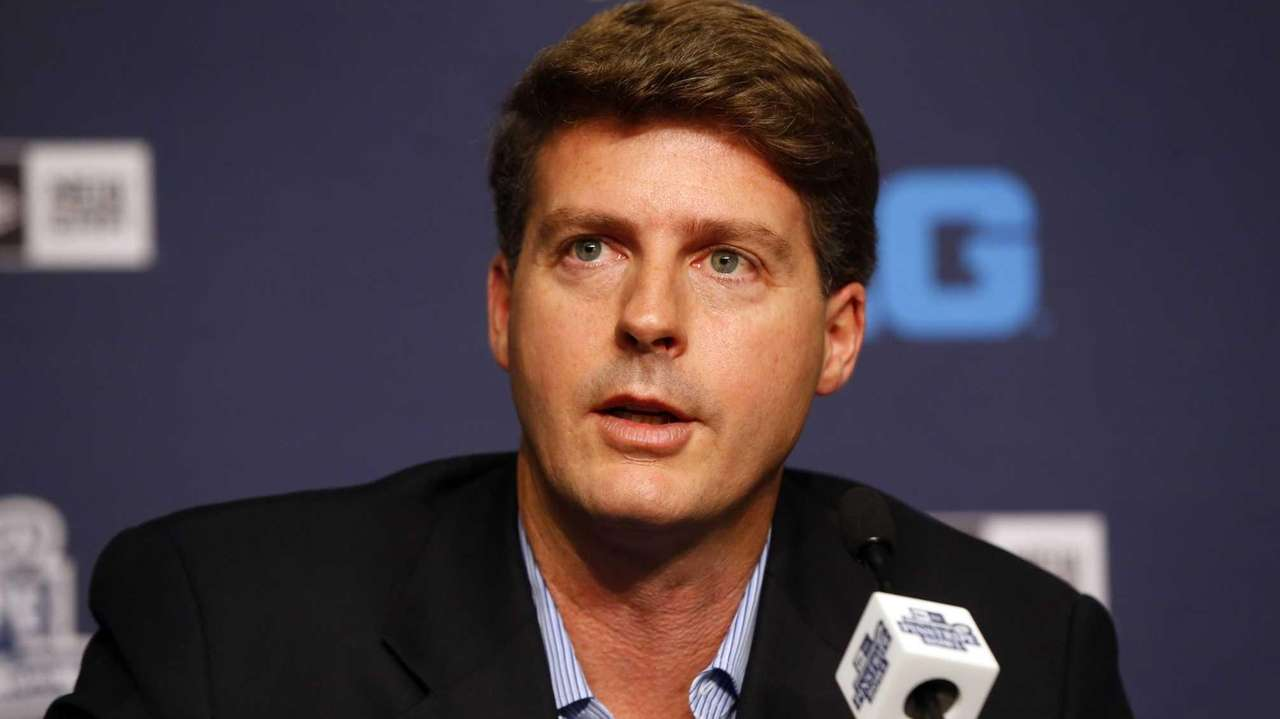 Yankees managing general partner Hal Steinbrenner speaks at