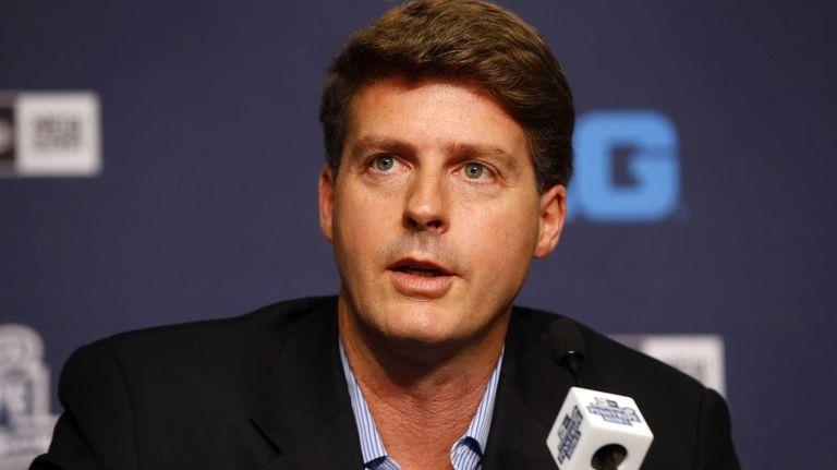 Yankees managing general partner Hal Steinbrenner speaks at