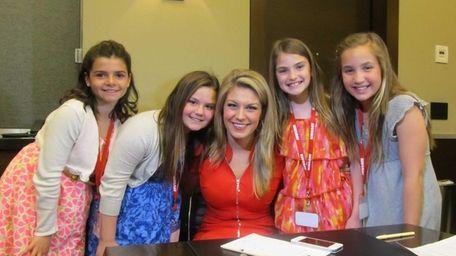Kidsday reporters Sarah Gover, Hayley Pepe, Kerri Gunther