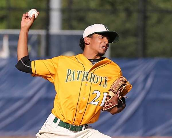 Ward Melville Pitcher Christopher Cepeda got the win