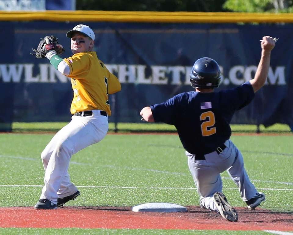 Ward Melville's Zachary Hood tries to turn the