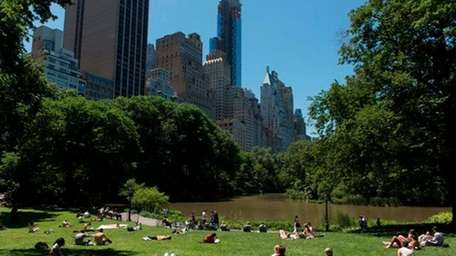 Park goers enjoy a beautiful afternoon in Central