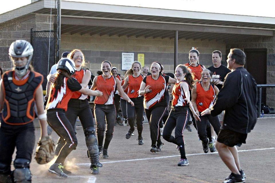 PATCHOGUE - JUNE 2, 2013: The Babylon softball