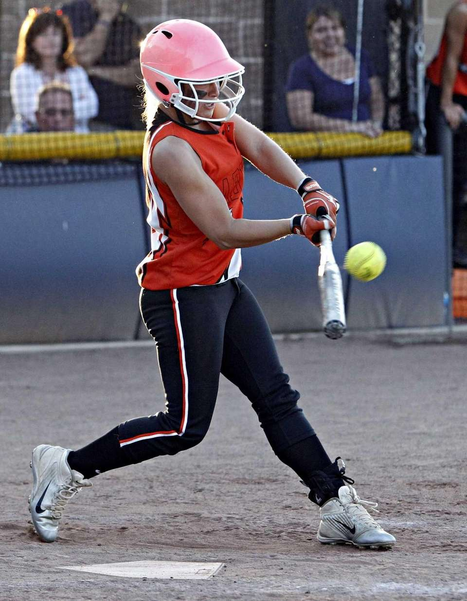 Babylon's Miranda Richards connects for the game-winning RBI