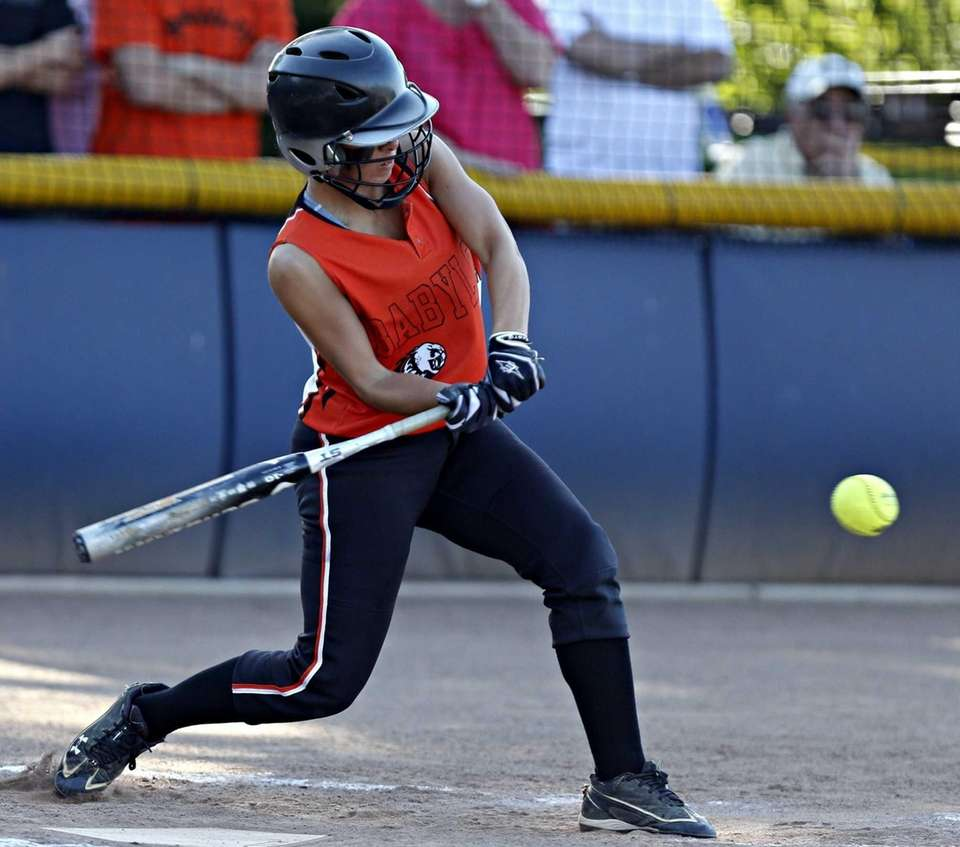 Babylon's Brianna Goodfellow connects for a triple to