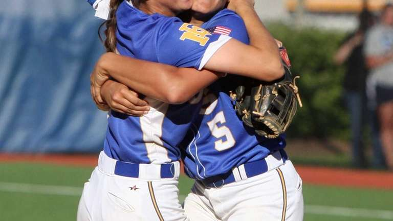 Taylor Conti and Danielle Cutuli of East Meadow