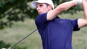 Joe Saladino hits off the tee during a