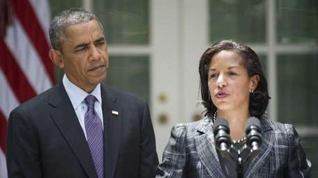 Newly appointed National Security Advisor Susan Rice speaks