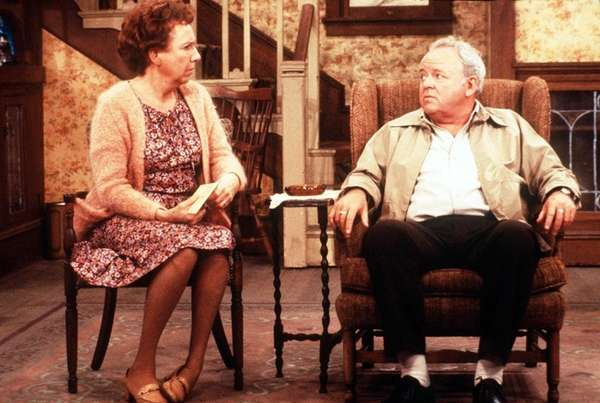 Jean Stapleton, left, and Carroll O'Conner in