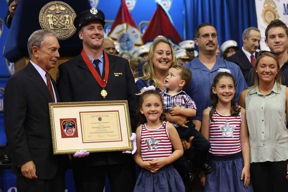 Firefighter Patrick J. Griffin, of Oceanside, poses with