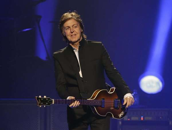 Paul McCartney performs during the first U.S concert