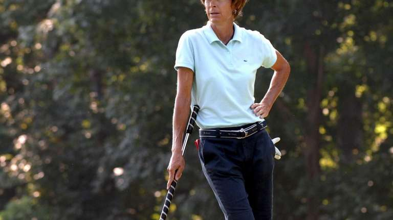 Jean Bartholomew stands at the fifth hole during