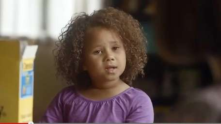 The national ad featuring an interracial family will