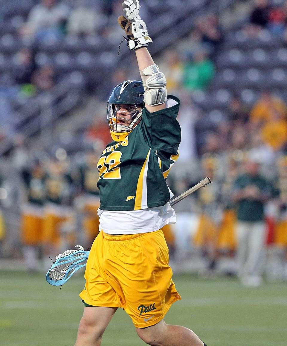 Ward Melville's Brendan Hegarty celebrates goal during the