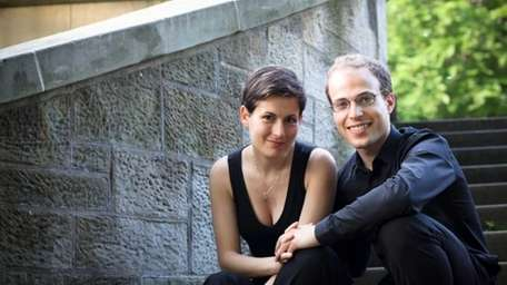 Anna Polonksy and Orion Weiss perform in the