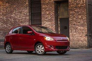 The 2014 Mitsubishi Mirage gets an estimated 37/44