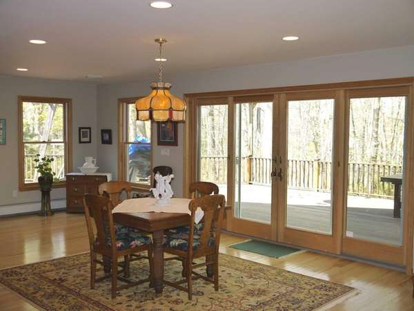 The dining room in this Wading River home,