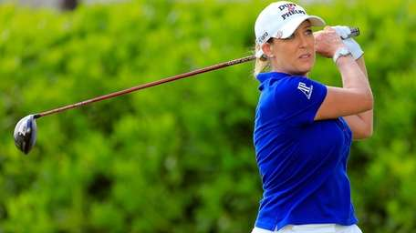 Cristie Kerr plays a shot on the 7th