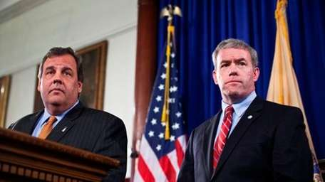 New Jersey Governor Chris Christie and Jeffrey Chiesa.