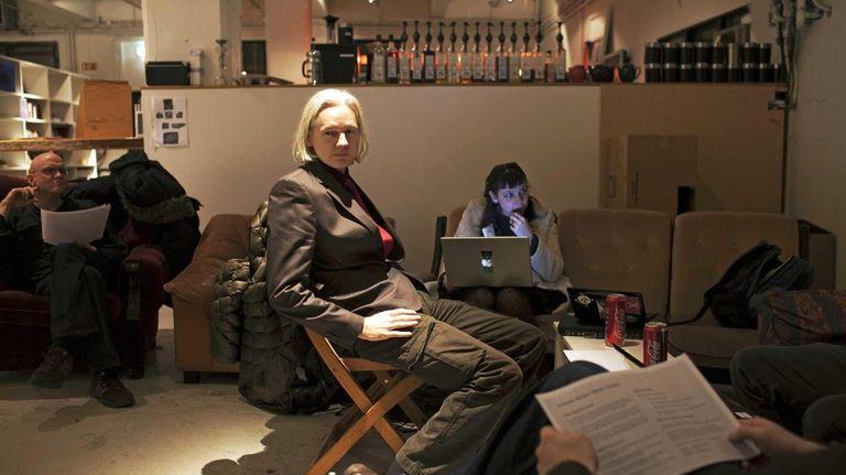 Julian Assange, center, is a subject of Academy