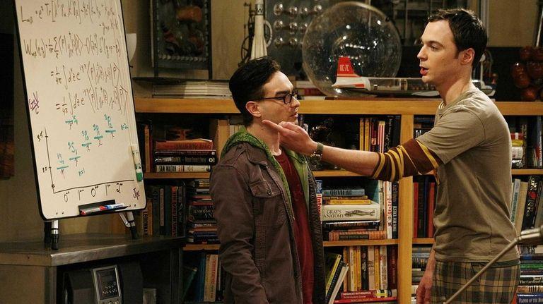 Leonard (Johnny Galecki, left) and Sheldon (Jim Parsons,