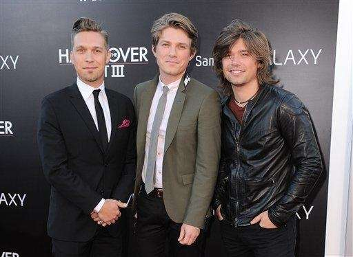 From left, Isaac Hanson, Taylor Hanson, and Zac