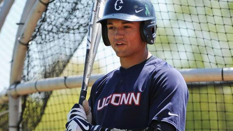University of Connecticut infielder L.J. Mazzilli is seen