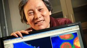 Scientist Dr. Jia Wang is shown with electron