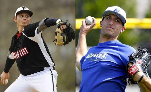 This Newsday composite shows Hofstra pitcher Bryan Verbitsky,