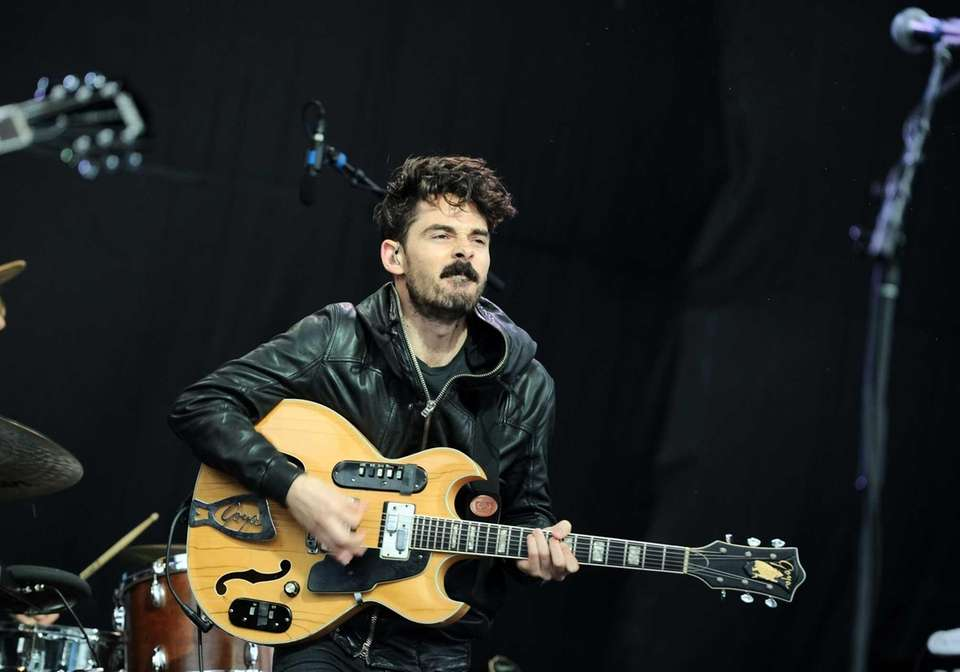 Taylor Rice, of Local Natives, performs during the