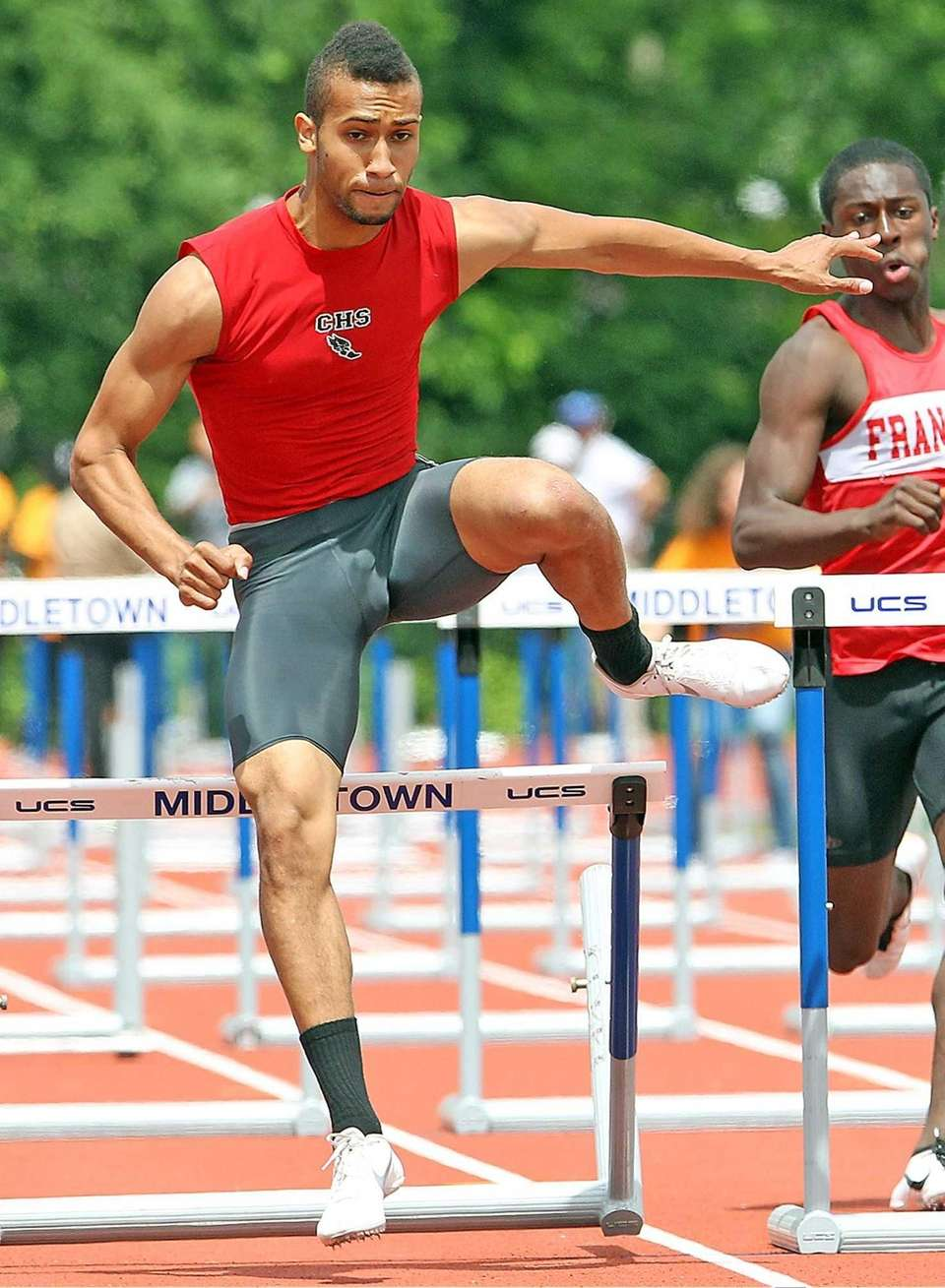 Connetquot's John Stallworth takes first during the 110