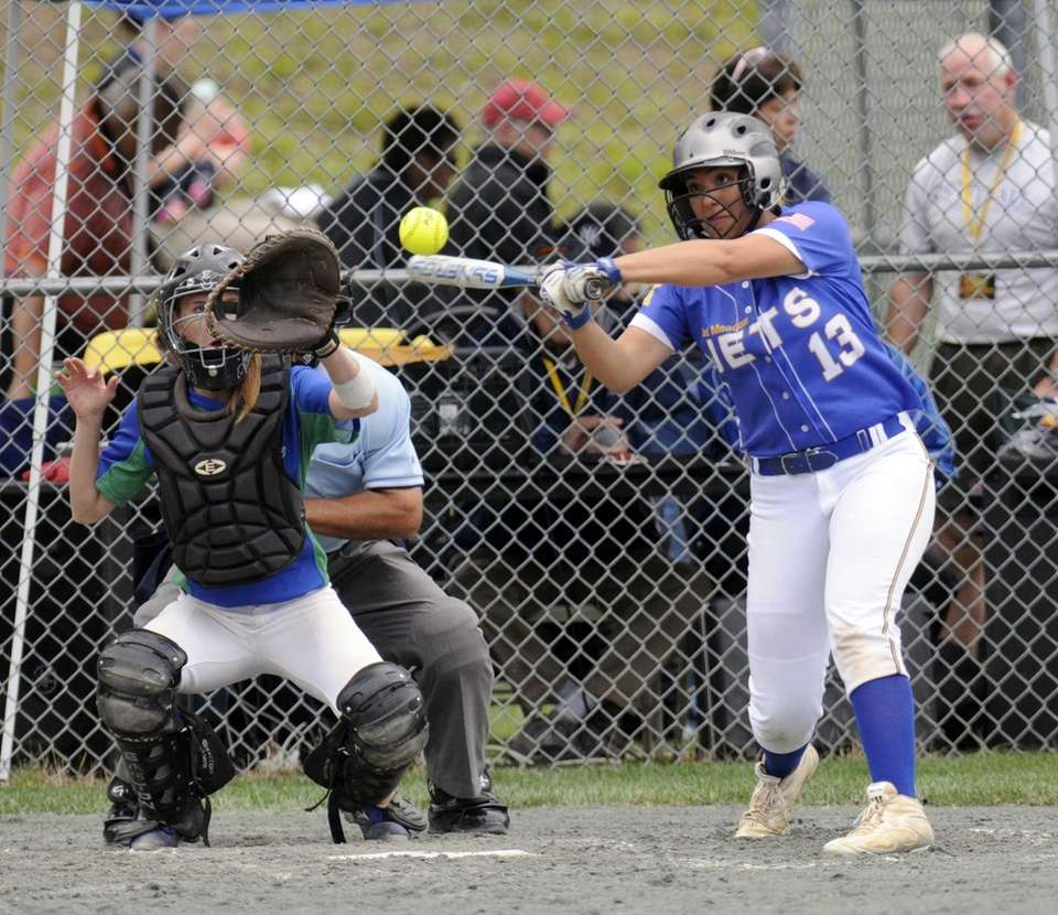 East Meadow's Dina Larosa bats against Cicero-North during