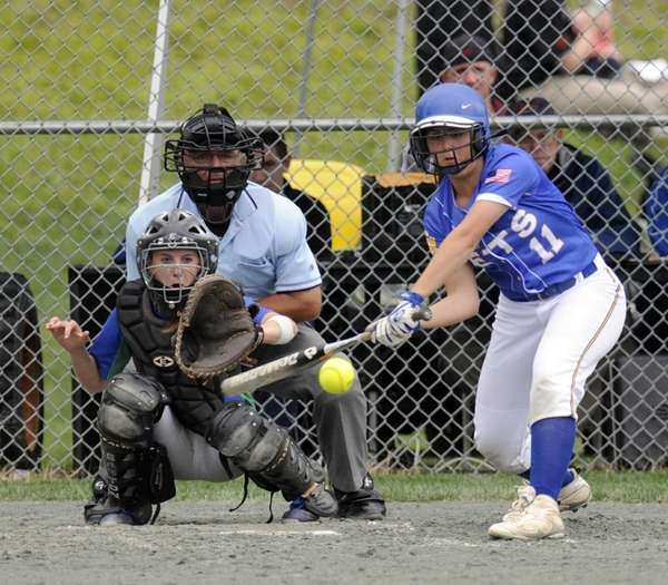 East Meadow's Tianna Larosa bats against Cicero-North during