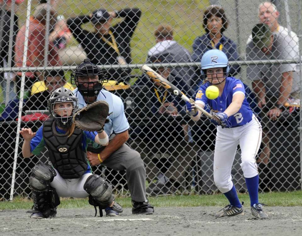 East Meadow's Ariel Cornfield bats against Cicero-North during