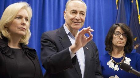 Democratic New York Sens. Charles Schumer and Kirsten