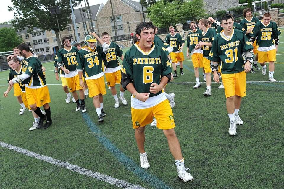 Ward Melville's Christian Mazzone and his Patriot teammates