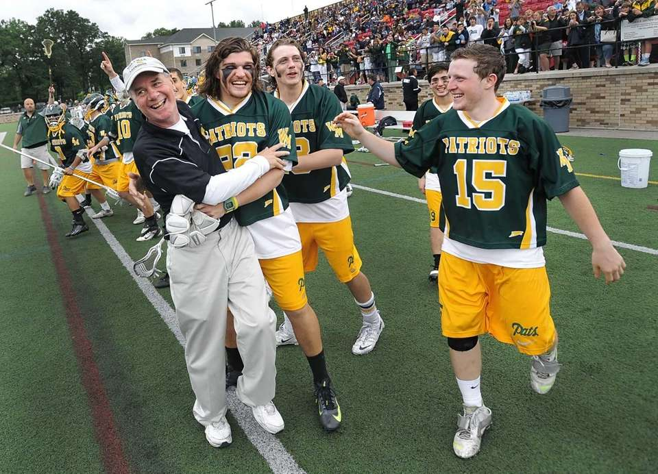 Ward Melville's head coach Mike Hoppey and his