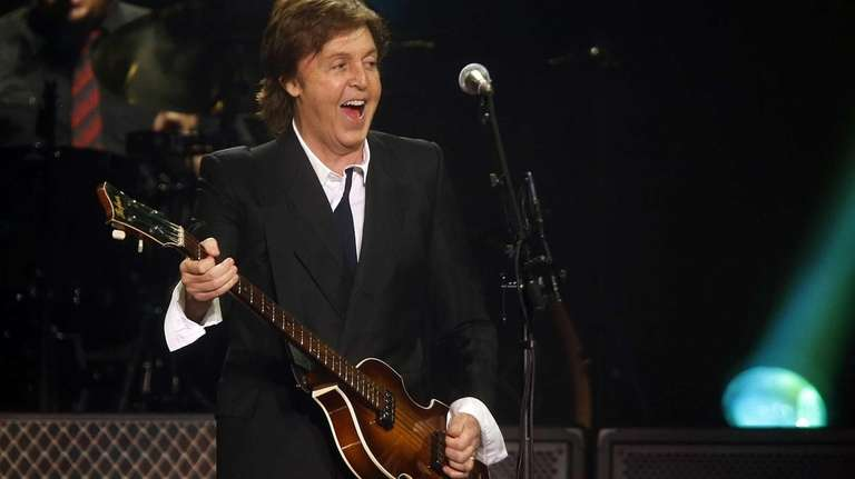 Paul McCartney performs during a concert at the