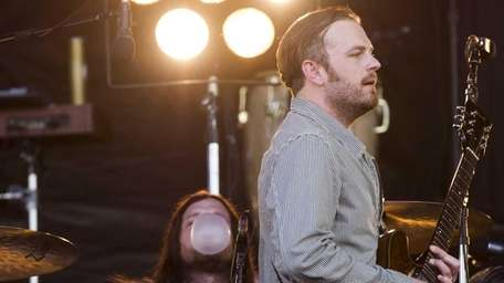 Caleb Followill, right, and Nathan Followill from the