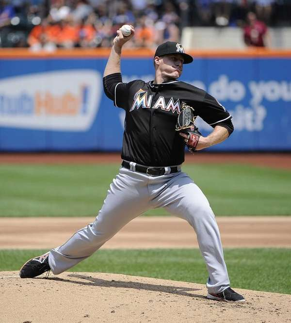 Miami Marlins pitcher Tom Koehler delivers a pitch