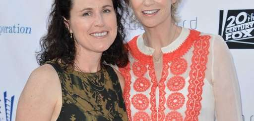Lara Embry and actress Jane Lynch at the