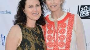 Lara Embry and actress Jane Lynch at the