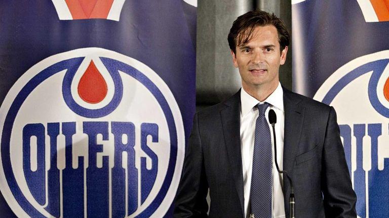 Edmonton Oilers new head coach Dallas Eakins speaks