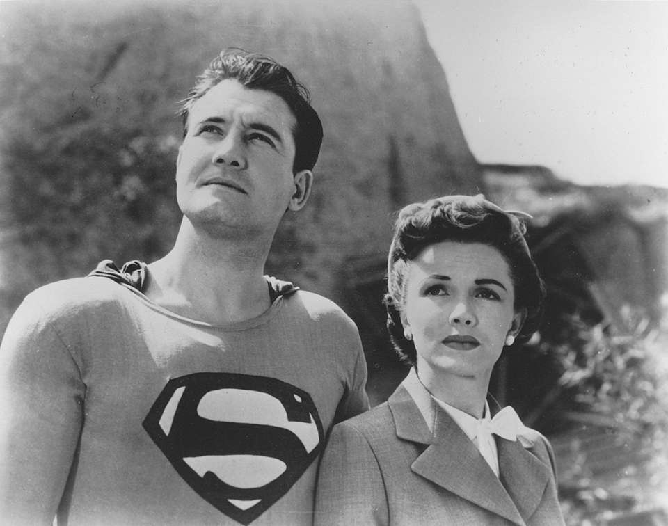 George Reeves and Phyllis Coates as Superman and