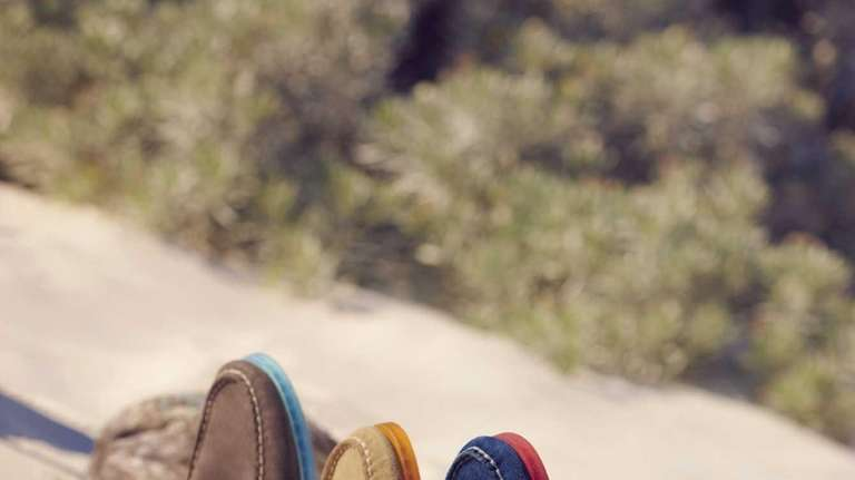 A classic gets colorful -- Sperry Top-Sider suede