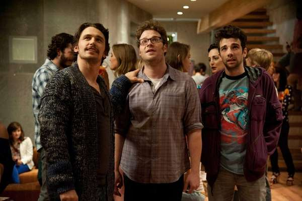 From left, James Franco, Seth Rogen and Jay